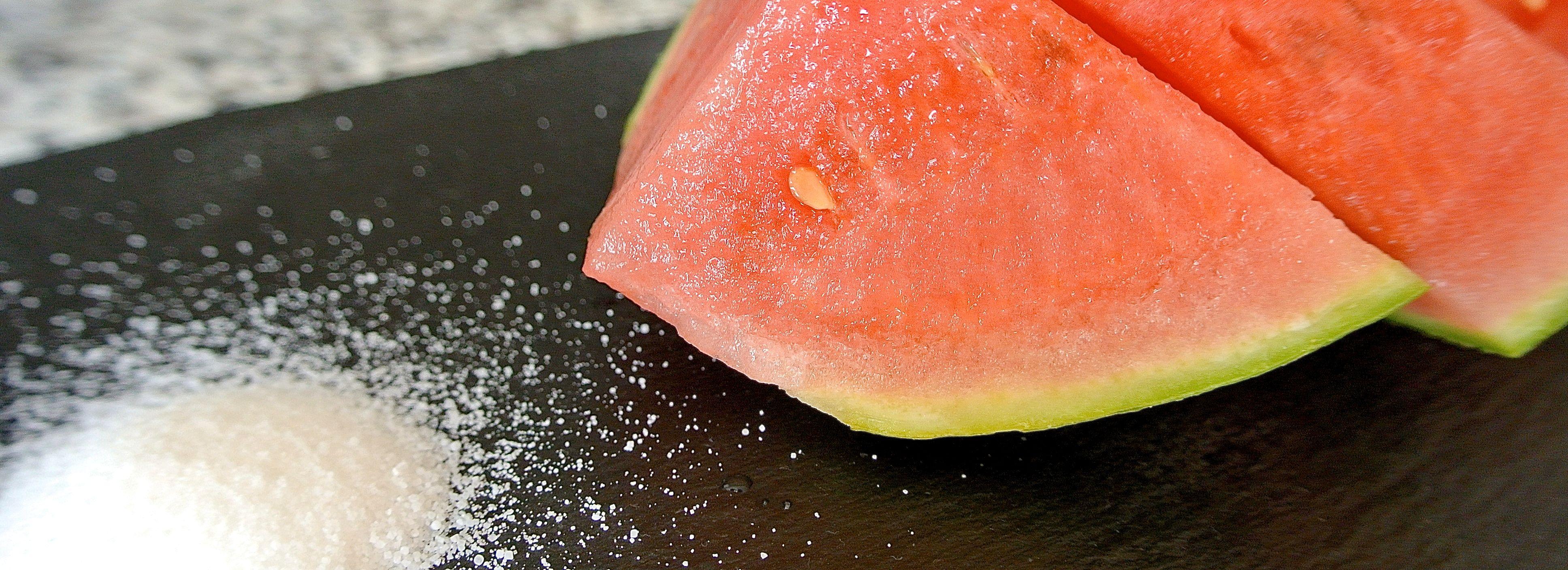 Wassermelone ist besser mit Salz