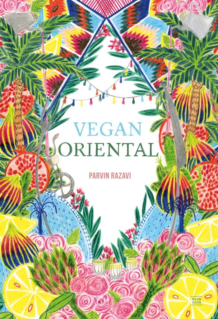 """Die Illustrationen in """"Vegan Oriental"""" sowie das Cover sind Buntstiftzeichnungen von Henriette Artz"""