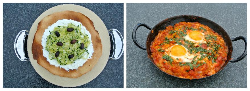 Endlich Grill-Besitzer! Sommerfrühstück vom Grill: Socca & Shakshuka