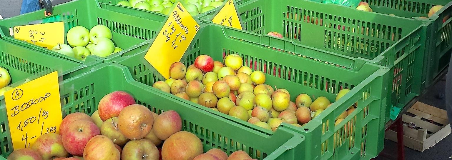 Man muss die Äpfel feiern, wie sie fallen