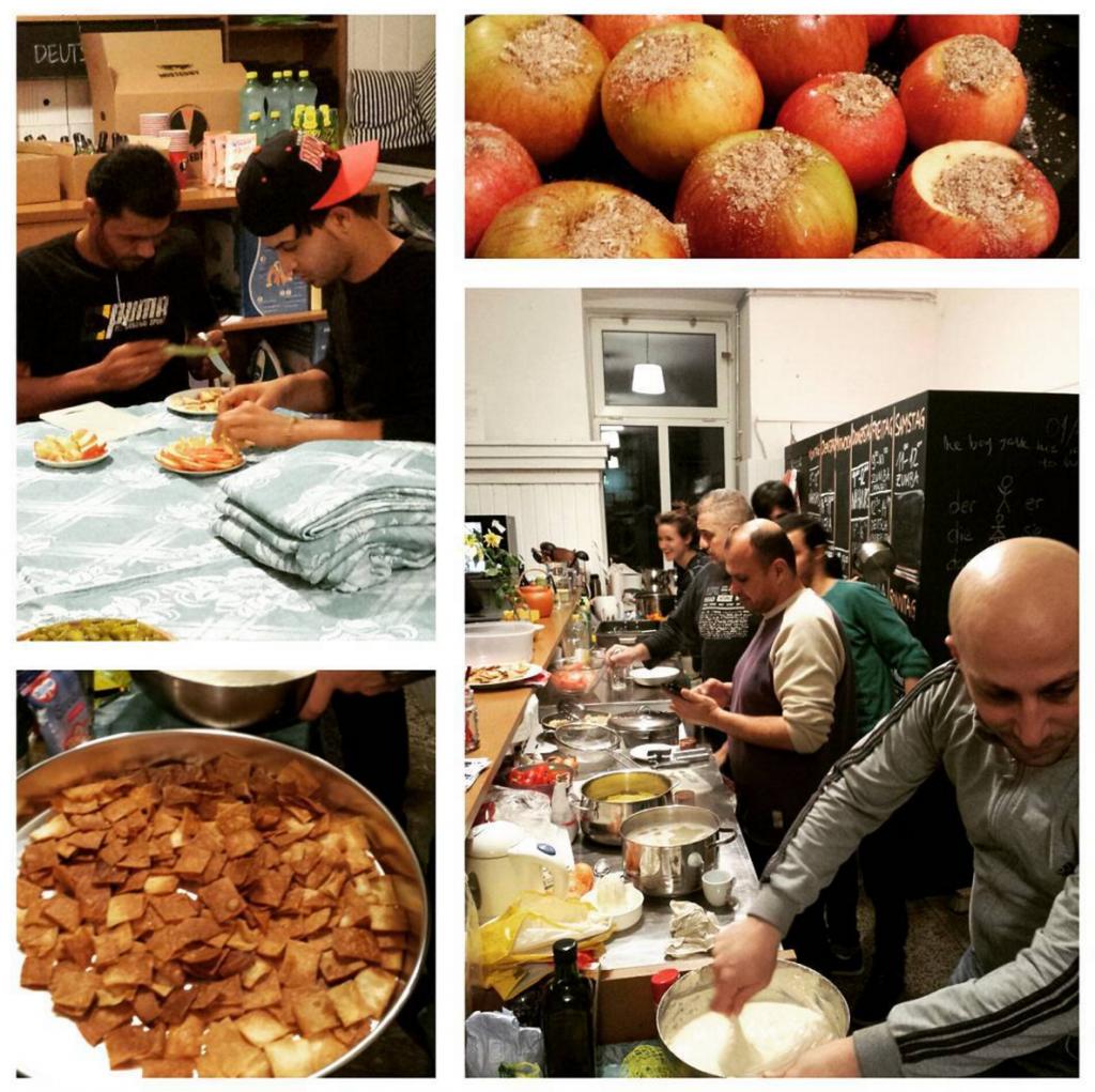 Einer unserer Kochabende mit syrischen und österreichischen Gerichten